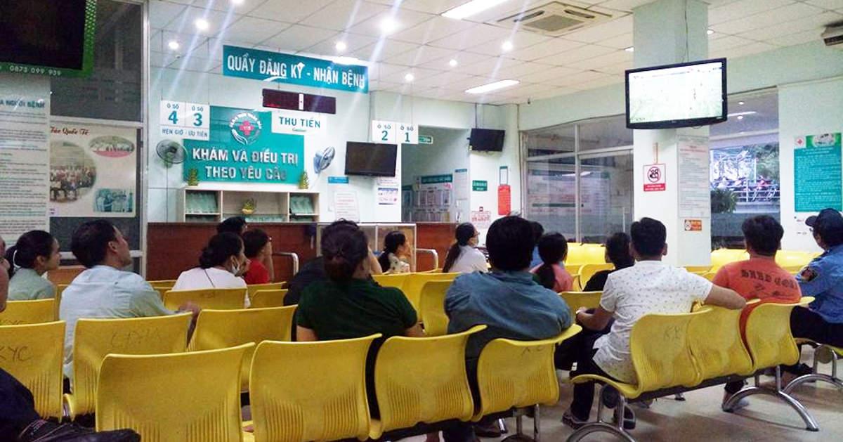 Quầy đăng ký tại Khu Khám và điều trị theo yêu cầu, Bệnh viện Nhân dân 115