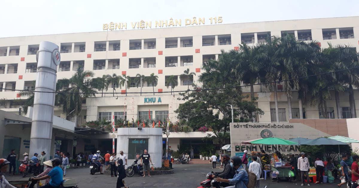 Cổng số 3 Bệnh viện Nhân nhân 115 - Khoa Ngoại Chấn thương chỉnh hình
